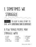 Struggles and Coping Strategies: Workbook, Graphic Organiz