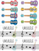 Treble Clef & Bass Clef Note Matching Centers - Strum Along Edition
