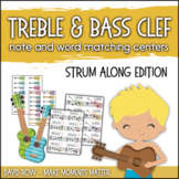 Treble Clef & Bass Clef Note Matching Centers - Strum Alon