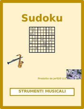 Strumenti musicali (Musical instruments in Italian) Sudoku