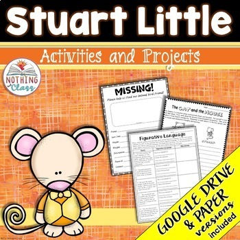 Stuart Little Reading Response Activities And Projects By Nothing