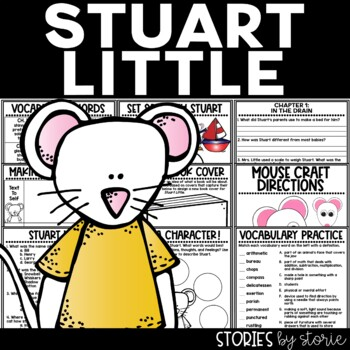 Stuart Little Book Questions, Vocabulary, & Mouse Craft