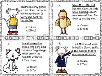 Stuart Little Cause & Effect Task Cards