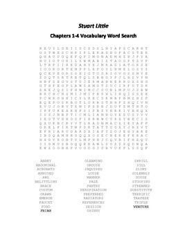 Stuart Little Chapters 1-15 Vocabulary Word Search Packet- E.B. White