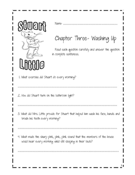 Stuart Little Comprehension Chapter Questions