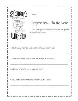 Stuart Little Comprehension Chapter Questions