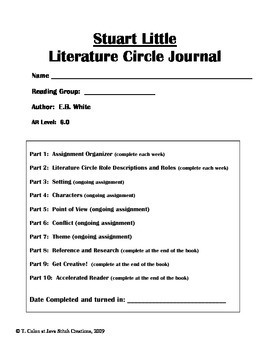 Stuart Little Literature Circle Journal Student Packet