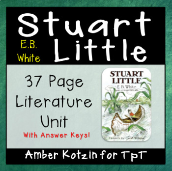 Stuart Little Literature Guide (Common Core Aligned)