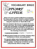 Stuart Little Vocabulary Bingo