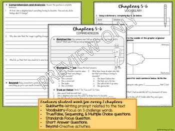 Stuart Little and The Chocolate Touch Novel Study Bundle Distance Learning