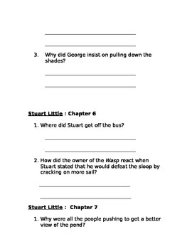 Stuart Little study guide