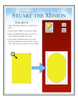 Stuart the Minion in Illustrator