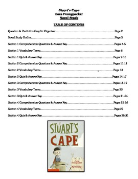 Stuart's Cape (Pennypacker) - Novel Study