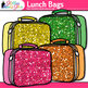 Lunch Bags {Rainbow Glitter Back to School Supplies for Wo