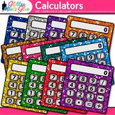 Calculator Clip Art | Rainbow Measurement Tool Graphics for Math Resources