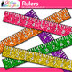 Ruler Clip Art   Rainbow Measurement Tool Graphics for Math Resources