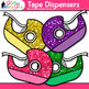 Tape Clip Art | Rainbow Glitter Back to School Supplies for Worksheets & Labels