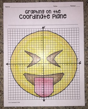 Stuck- Out Tongue & Tightly Shut Eyes EMOJI (Graphing on the Coordinate Plane)