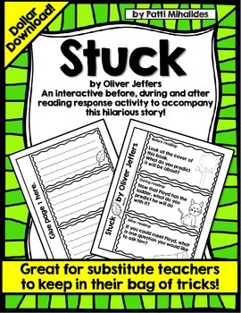 """Stuck"" by Oliver Jeffers: An Interactive Reading Response Activity"