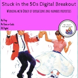 Stuck in the 50s Digital Breakout working with Order of Op