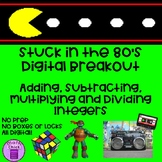 Stuck in the 80s Digital Breakout Adding Subtracting Multi