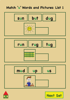 Interactive Spelling Story - Learn to Spell Short U
