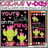 Stuck on My Mind Cactus Valentine's Day Bulletin Board, Door Decor, or Poster