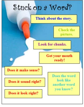 """Stuck on a Word"" Vocabulary Strategy Poster"