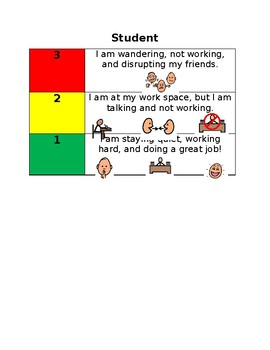 Student 3 Point Scale