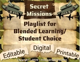 Student 5 day Digital Choice Board, Playlist for Blended L