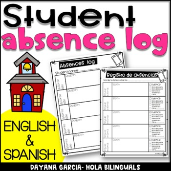 Student Absence log- FREEBIE