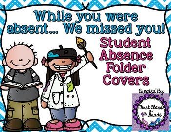 Student Absent Folder (Chevron)