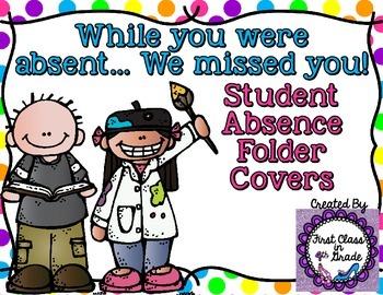 Student Absent Folder (Polka Dot Theme)