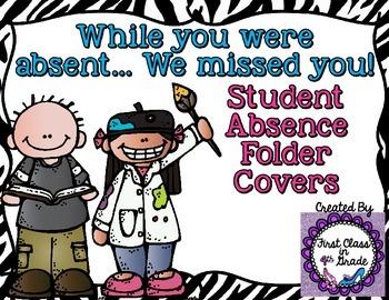 Student Absent Folder (Zebra)
