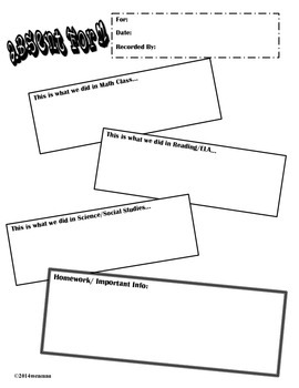 Student Absent Form Record Sheet - FREE!