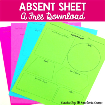 Student Absent Sheet {EDITABLE}