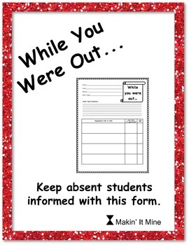 Student Absentee Form - Timesaver form for absent students