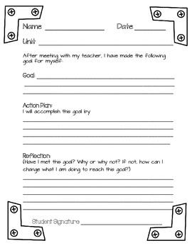 Student Academic Goal Sheet
