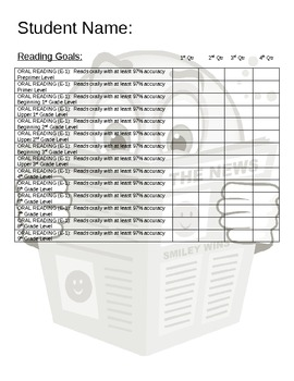 Student Academic Goal Sticker Chart