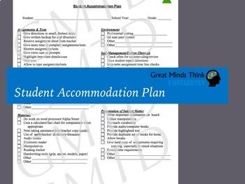 Student Accommodation Form