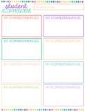 Student Accommodations List FREEBIE {editable}