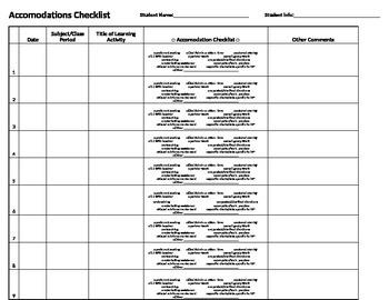 Student Accommodations Tracker