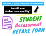 Student Accountability Assessment Retake Form