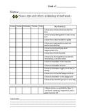 Student Accountability Behavior Log