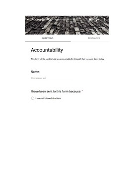 Student Accountability Form