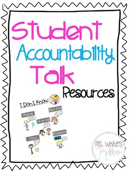Student Accountability Talk Resources