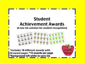 Student Achievement Awards