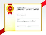 Student Achievement Certificate
