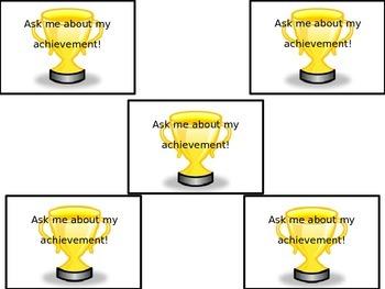 Student Achievement/Goal Badges
