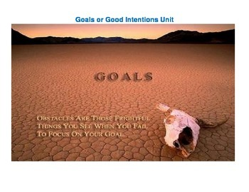 Goals or Good Intentions Student Activity -- Quotes on Goa